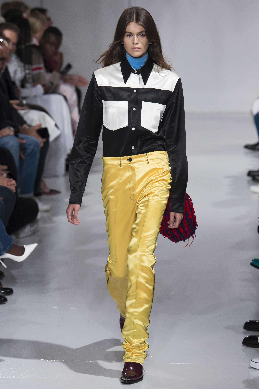 Kaia Gerber New York Fashion Week, Calvin Klein, Runway, Spring 2018