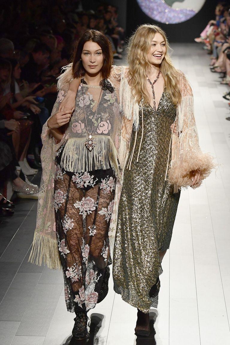Gigi and Bella Hadid on New York Fashion week. missing shoe story,
