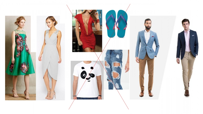 what clothes to avoid to a weding