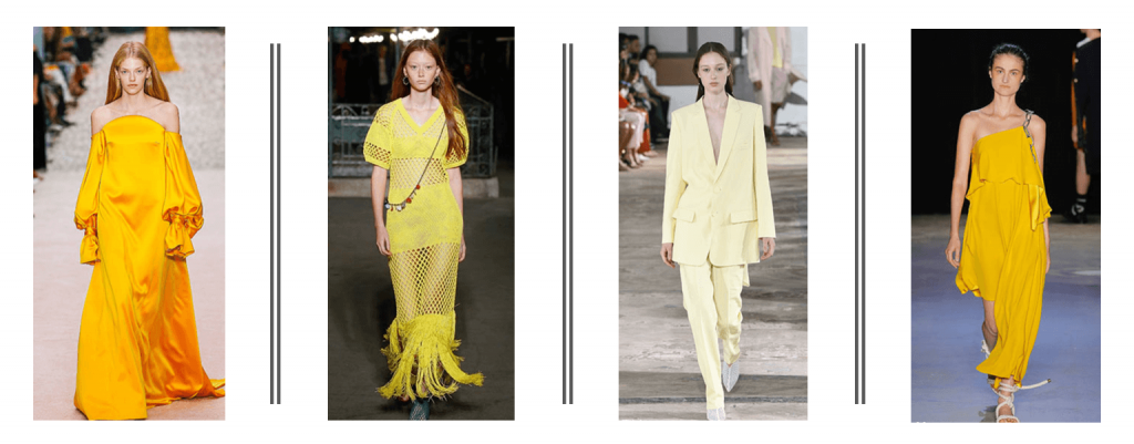 Fashion Trends from Spring/Summer 2019 - yellow
