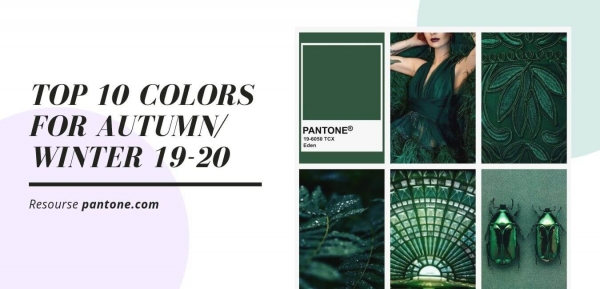 top 10 colors for autumn/ winter 19-20