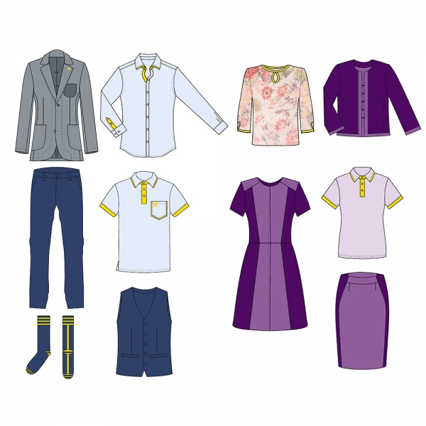 business dress code, corporate styling, corporate uniforms design